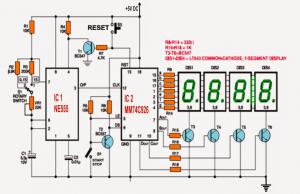 IC 555 Based Simple Digital Stopwatch