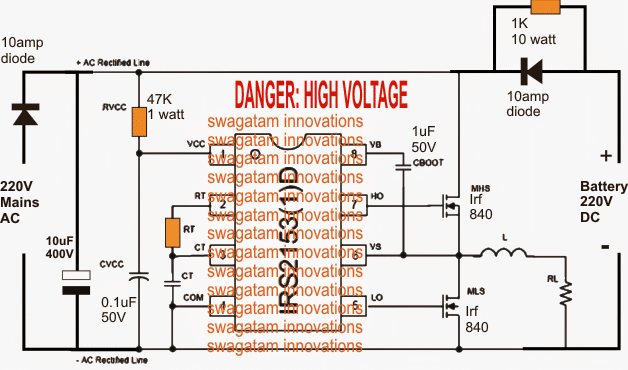 How to Build a 220V DC Inverter UPS Circuit