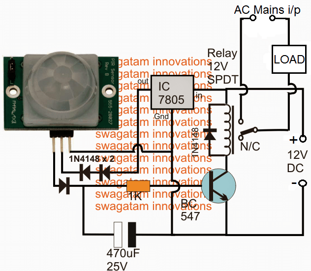 Passive Infrared Pir Motion Sensor Homemade Circuit