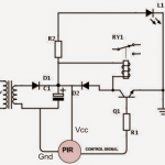 PIR Motion Activated Relay Circuit