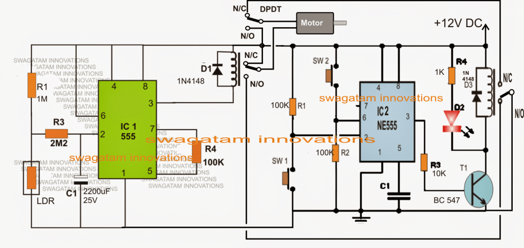 Hen House Automatic Door Controller Circuit