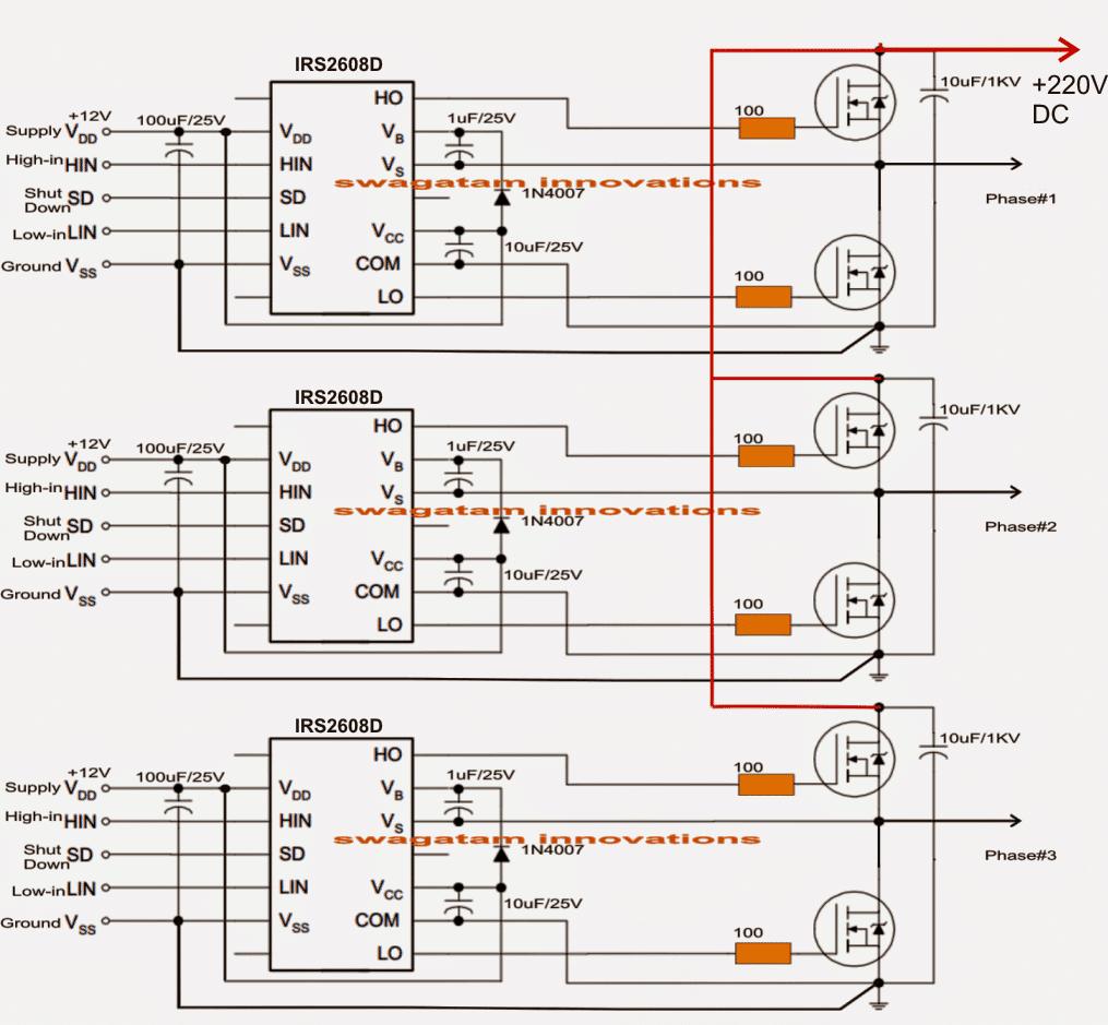 Circuit diagram of a 5kva inverter solar 3 phase inverter circuit pooptronica Choice Image