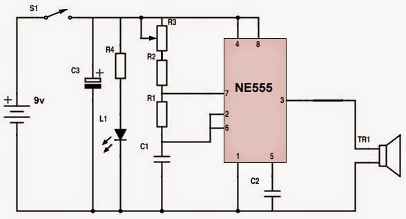 Ultrasonic remote control transmitter circuit