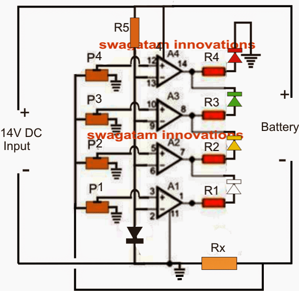 Battery Current Indicator Circuit – Current Dependent Charging