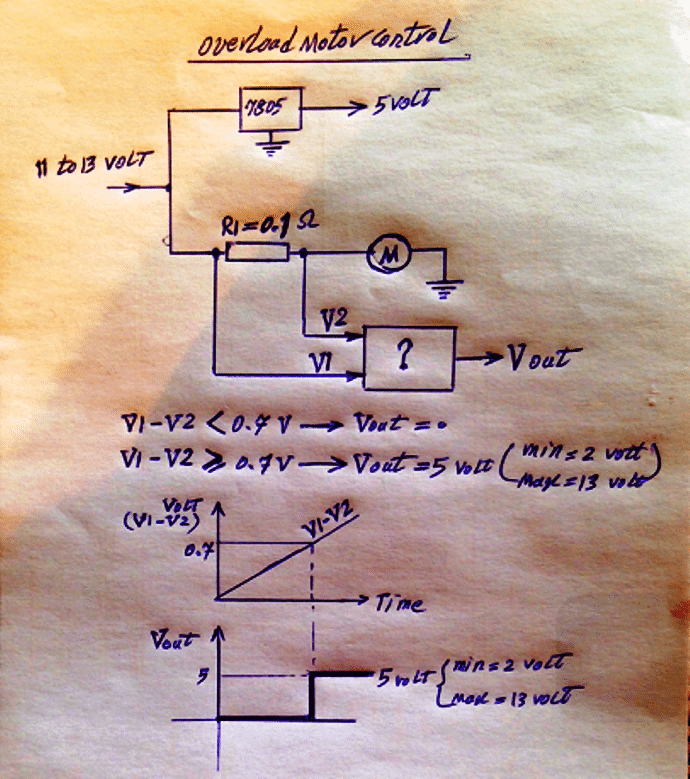 Current control calculations for an opamp based circuit