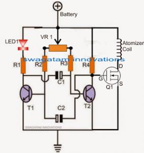 Atomizer Circuit for E Cigarettes