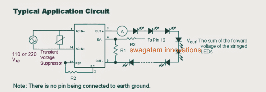 Transformerless Constant Current LED Driver Circuit