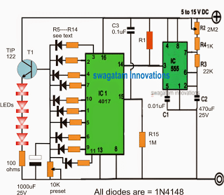 fading light effect generator circuit for fish aquariums with time delay