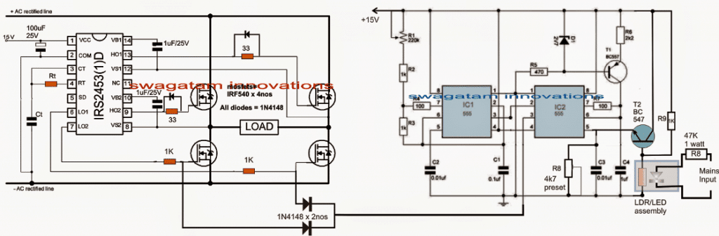 Transformerless Voltage Stabilizer Circuit