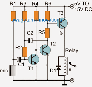 sound activated relay circuit
