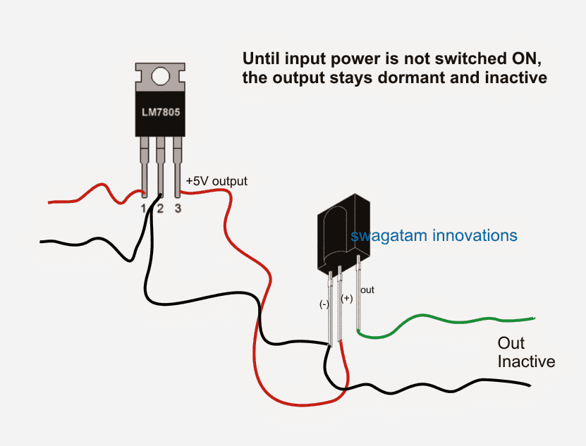 TSOP1738 sensors without power ON and without input IR