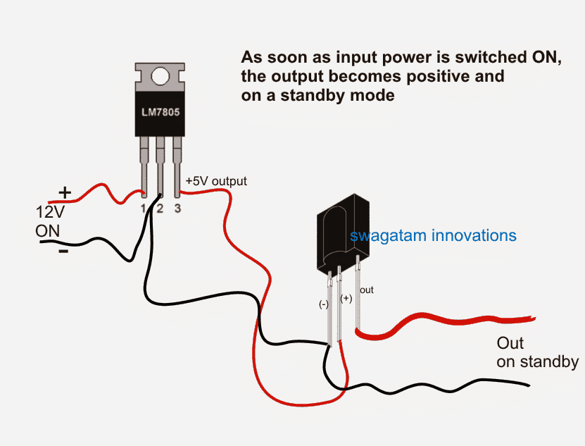 output response of TSOP1738 sensor when power is switched ON