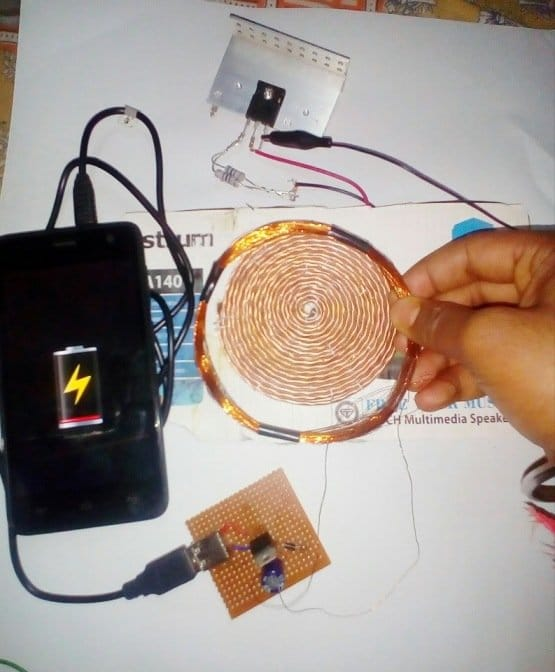 wireless cellphone charger circuit testing results