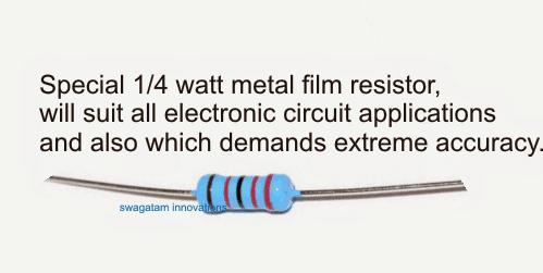 1/4 watt resistor 1%