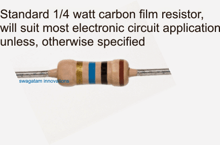 1/4 watt resistor 5%