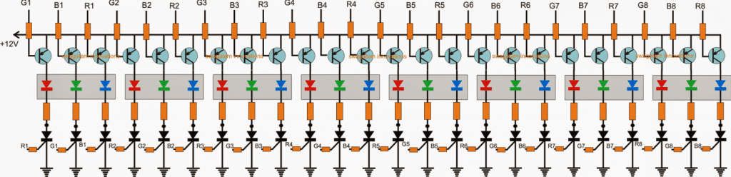 scrolling LED connection diagram