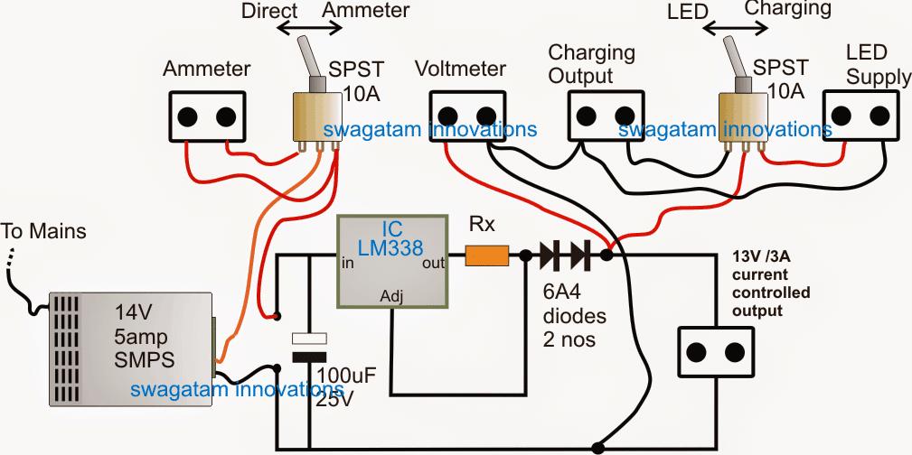 12V LED backpack circuit diagram