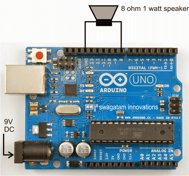 Arduino Musical Tune Generator Circuit