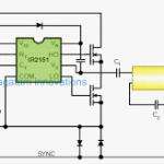 120V, 220V Electronic Ballast Circuit for Twin 40 Watt Fluorescent Tubes