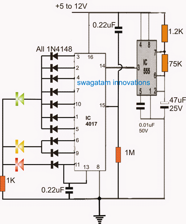 LED Timer Indicator Circuit for Board Games