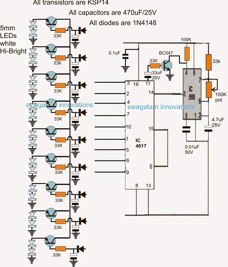 LED Meteor Shower, Rain Tube Circuit