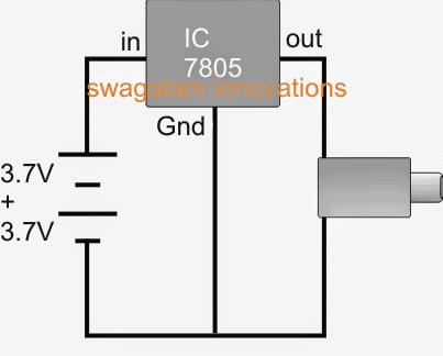 Simple IC 7805 power bank circuit