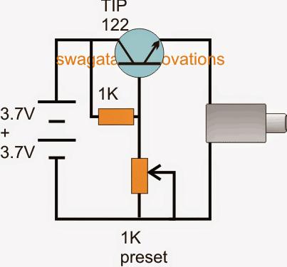 Regulated power bank circuit using TIP122 emitter follower