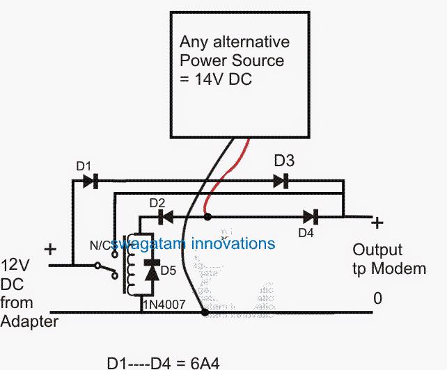 zero drop redundant UPS circuit