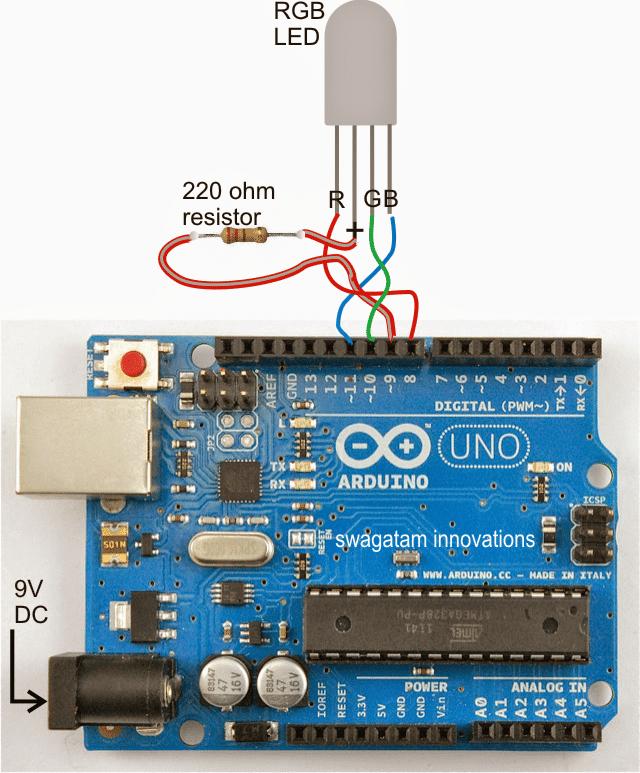 Arduino Random RGB Light Generator Circuit