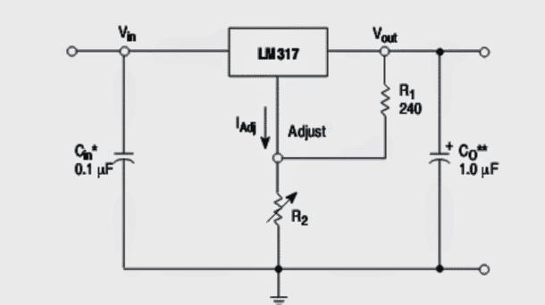 LM317 regulator circuit