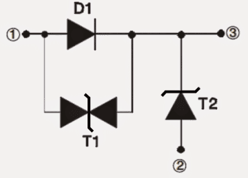 40 Amp Diode RBO40-40G/T internal layout