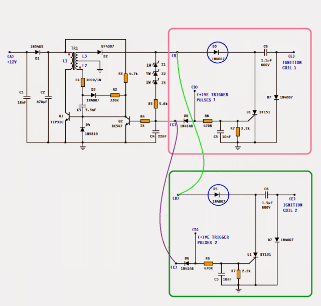 Dc cdi circuit for motorcycles circuit design sciox Image collections