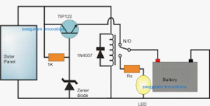 Automatic Solar Light using a Relay Changeover