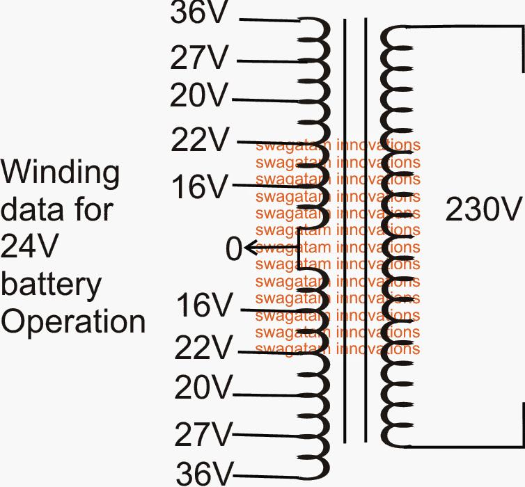 5 Level Cascaded sine wave Inverter transformer winding details