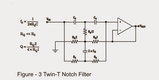 twin T notch filter circuit