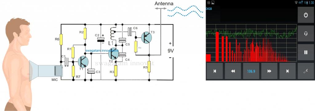 Wireless Stethescope Amplifier Circuit