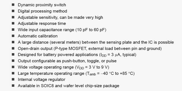 Capacitive Proximity Touch Sensor Circuit