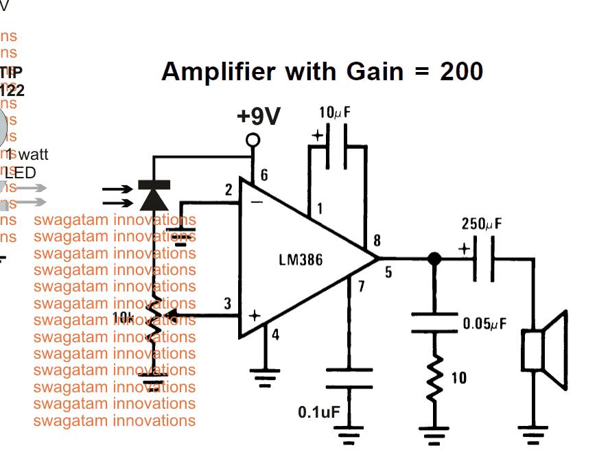 Li-Fi circuit using a photodiode