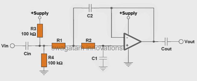 customized low pass filter circuit