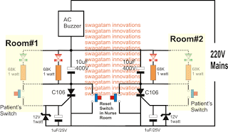Hospital Room Call Bell Circuit using SCR