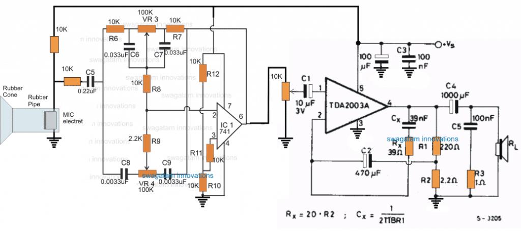 Stethescope Amplifier Circuit