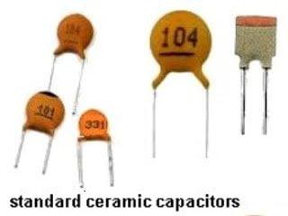 disc type ceramic capacitors