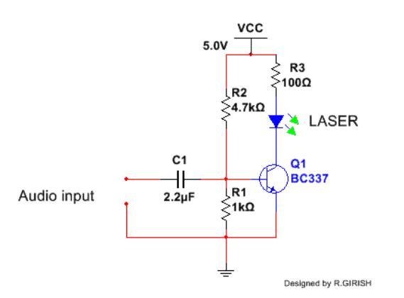 Laser Communicator Transmitter Circuit