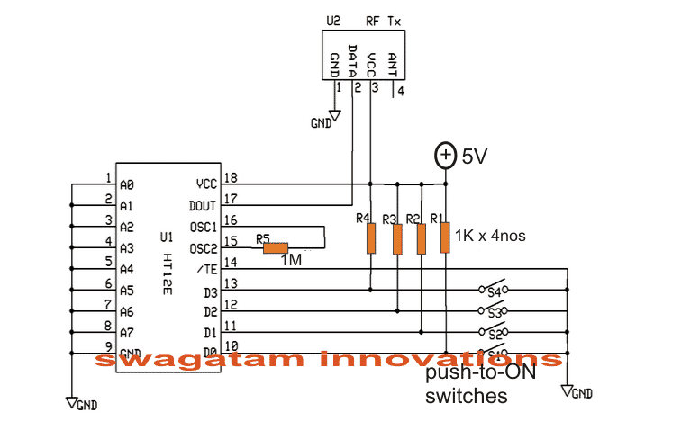 Receiver Circuit to Trigger a Camera Remotely
