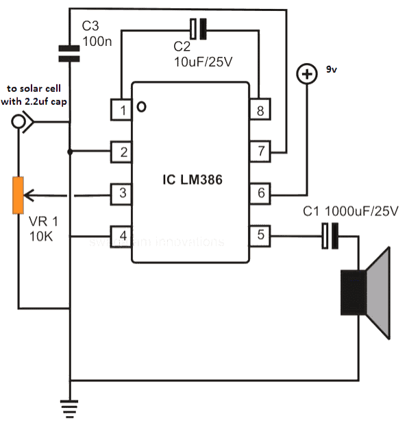 Laser Communicator Receiver Circuit