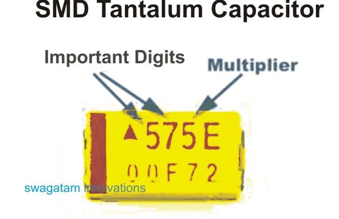 How to read and understand Markings of SMD tantalum capacitor
