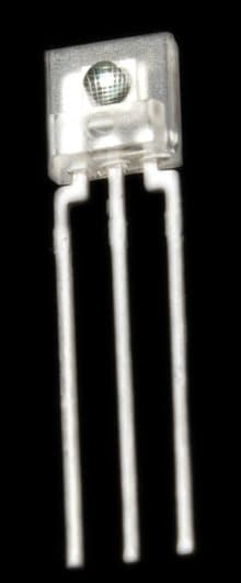 TSL235R is a 3 pin like a transistor with a translucent casing