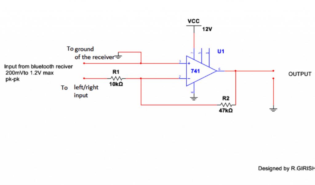 opamp based bluetooth function generator circuit