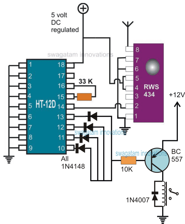 433 MHz Remote Infrared Receiver Circuit