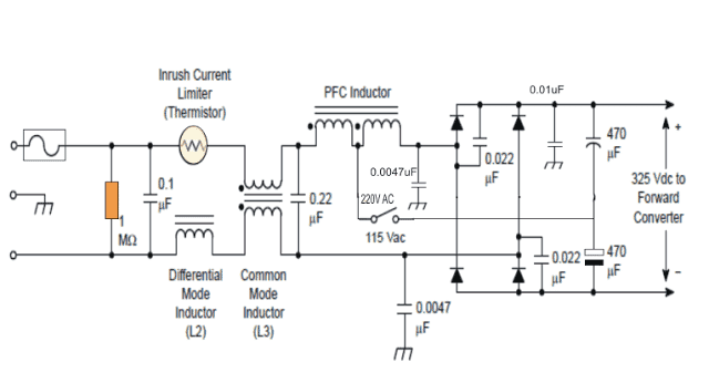 Passive PFC power factor correction
